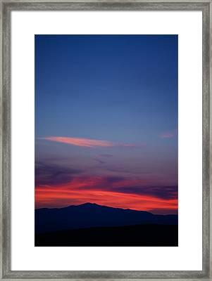 Purple Mountain Framed Print by Kevin Bone