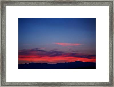 Purple Mountains Framed Print by Kevin Bone