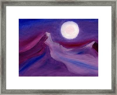 Purple Night 2 Framed Print by Hakon Soreide