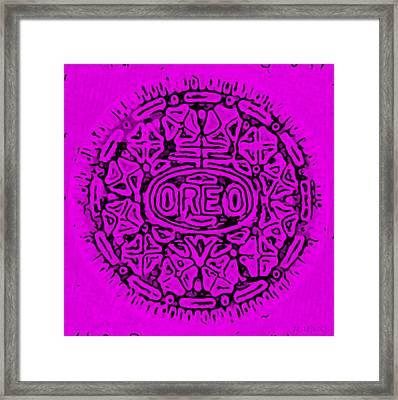 Purple Oreo Framed Print by Rob Hans