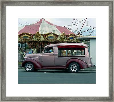 Purple Panel Framed Print by Pamela Patch