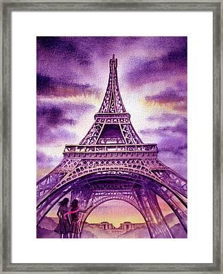 Purple Paris Framed Print by Irina Sztukowski