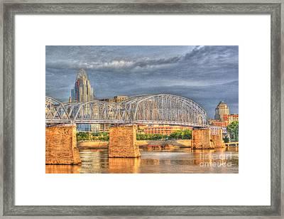 Purple People Bridge Framed Print