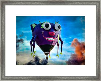 Purple People Eater Framed Print by Bob Orsillo