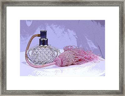 Purple Perfume Framed Print
