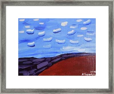Purple River Framed Print