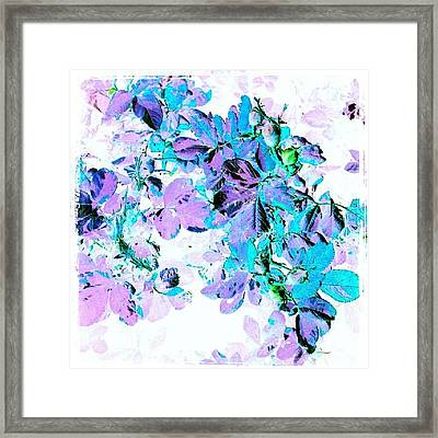 Purple Rose #android #andrography Framed Print