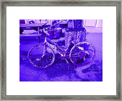 Purple Rusty Bicycle Framed Print by Kym Backland
