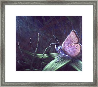 Framed Print featuring the painting Purple by Shawn Kawa