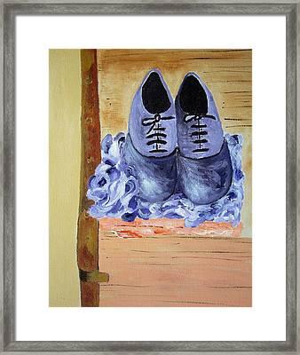 Purple Shoes Framed Print