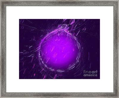 Purple Snow Over A Purple Glow Framed Print