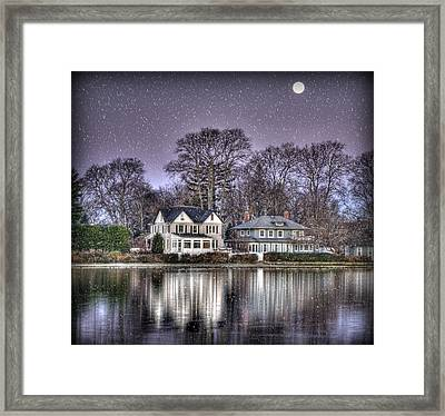Purple Snow Framed Print by Vicki Jauron