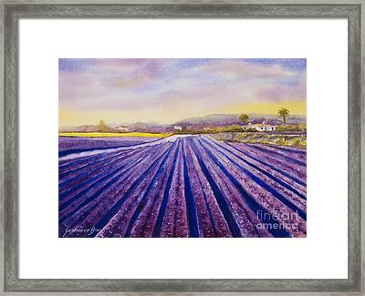 Purple Spain Framed Print by Genevieve Brown