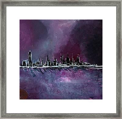 Purple Storm Framed Print by Rob Heath
