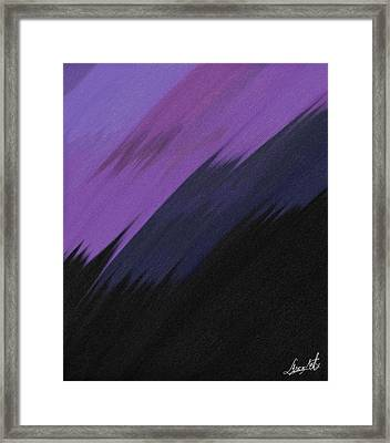 Purple Sunrise Framed Print by Lance  Kelly