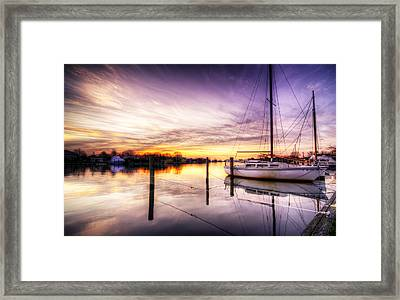 Purple Sunrise Framed Print by Vicki Jauron