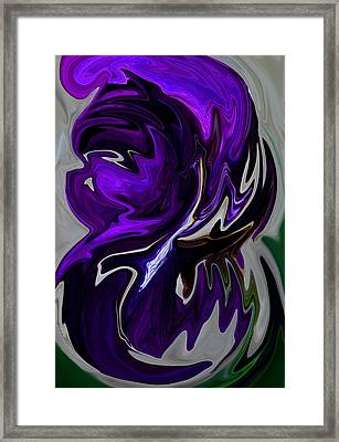 Purple Swirl Framed Print by Karen Harrison