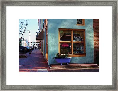 Purple Tub Framed Print by Bob Whitt