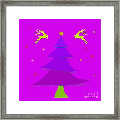 Purple X'mas Framed Print by Atiketta Sangasaeng