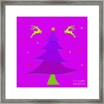 Purple X'mas Framed Print