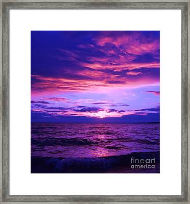 Purplosion Framed Print