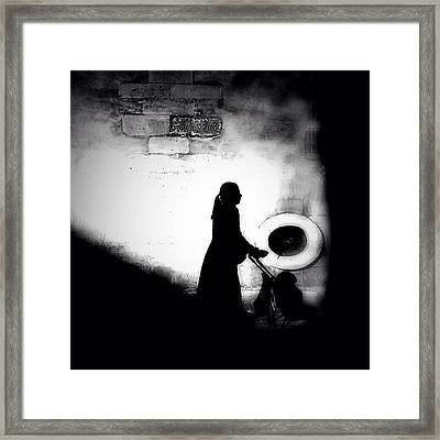 Push It Along Framed Print