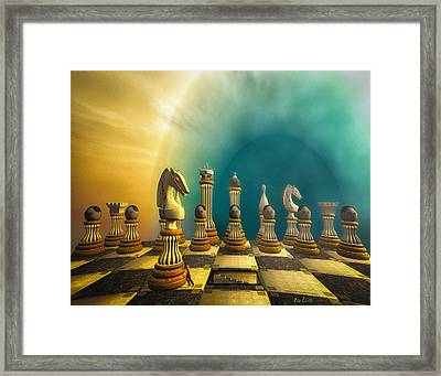 Pushing Back The Knight Framed Print by Bob Orsillo