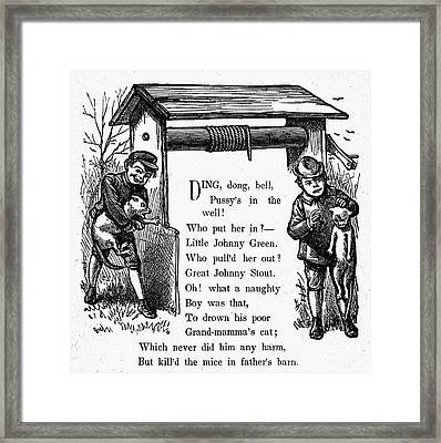 Pussys In The Well Framed Print
