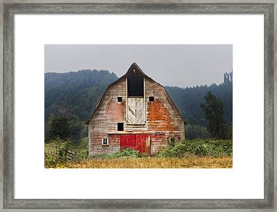 Put On A Happy Face Framed Print by Debra and Dave Vanderlaan