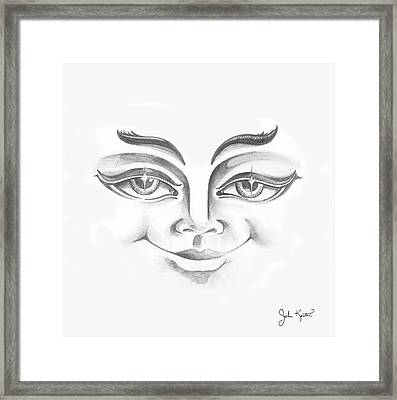 Put On Your Happy Face  Framed Print by John Keaton