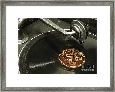 Put The Needle On The Record Framed Print by Rob Hawkins