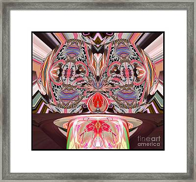 Putting Our Heads Together Framed Print