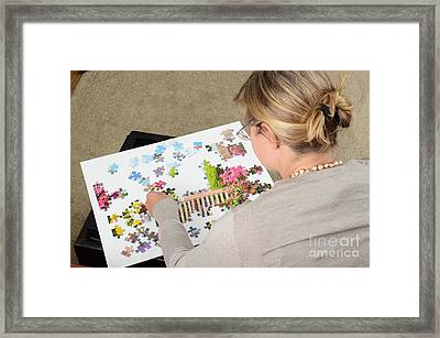 Puzzle Therapy Framed Print