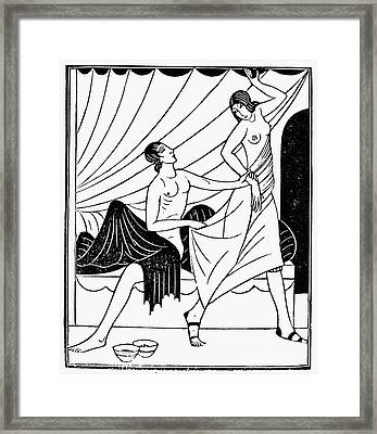 Pygmalion And Galatea Framed Print by Granger