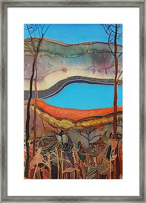 Pyramid Lake Framed Print by Irina Dorofeeva