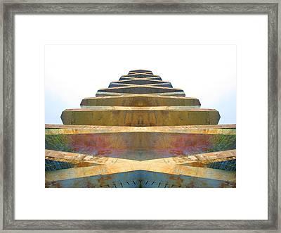 Pyramid Framed Print by Michele Caporaso