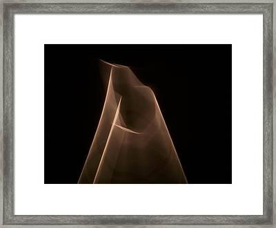 Pyramid Of Light Framed Print by Ezequiel Rodriguez Baudo