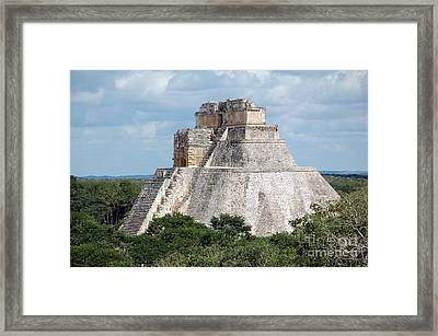 Pyramid Of The Magician At Uxmal Mexico Framed Print by Shawn O'Brien