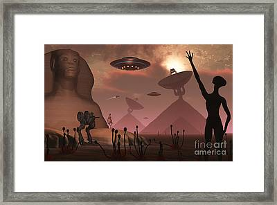 Pyramids Used As Communication Centers Framed Print