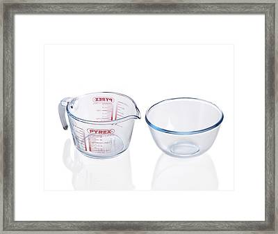Pyrex Jug And Bowl Framed Print by
