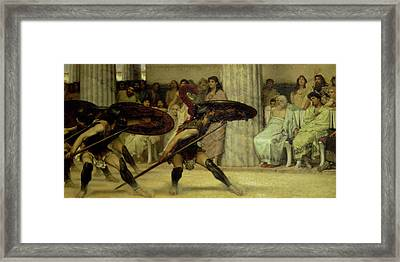 Pyrrhic Dance Framed Print by Sir Lawrence Alma-Tadema