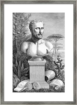 Pythagoras, Ancient Greek Philosopher Framed Print by