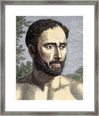Pythagoras, Ancient Greek Philosopher Framed Print by Sheila Terry