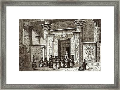 Pythagoras And Egyptian Priests Framed Print by Sheila Terry