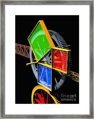 Pythagorean Machine Portrait 2 Framed Print by Russell Kightley