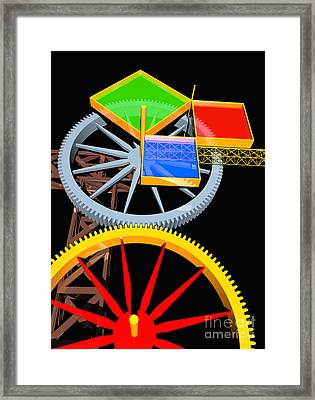 Pythagorean Machine Portrait 7 Framed Print by Russell Kightley