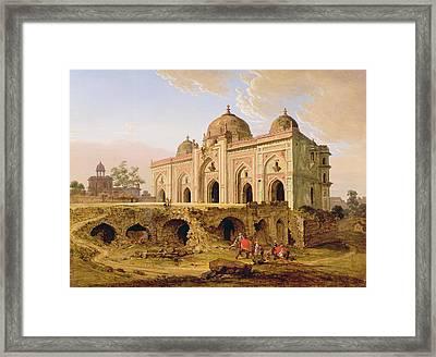 Qal' A-l-kuhna Masjid - Purana Qila Framed Print by Robert Smith
