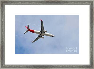 Qantas Heading Home Framed Print