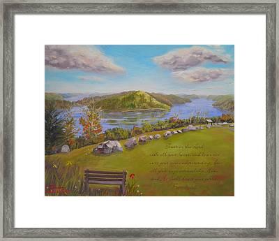 Quabbin Reservoir With Verse Framed Print
