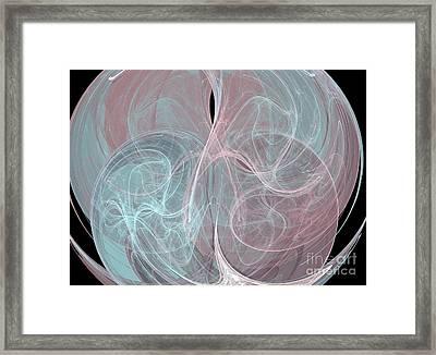 Framed Print featuring the digital art Quadrant by Kim Sy Ok